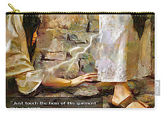 Hem Of His Garment And Text Carry-all Pouch