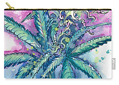 Hemp Blossom Carry-all Pouch by Ashley Kujan