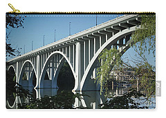 Carry-all Pouch featuring the photograph Henley Street Bridge II by Douglas Stucky