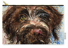 Carry-all Pouch featuring the painting Henry by Molly Poole