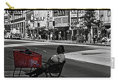 Carry-all Pouch featuring the photograph Her Red Cart by Lorraine Devon Wilke