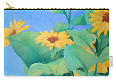 Her Sunflower Garden Original Oil Painting Of Sunflowers Carry-all Pouch