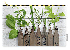 Carry-all Pouch featuring the photograph Herb Garden by Rebecca Cozart