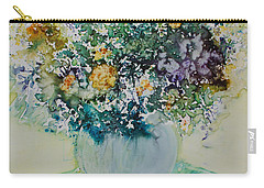 Carry-all Pouch featuring the painting Herbal Bouquet by Joanne Smoley