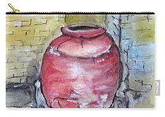 Carry-all Pouch featuring the painting Herculaneum Amphora Pot by Clyde J Kell