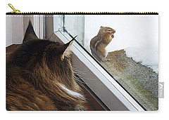 Carry-all Pouch featuring the photograph Cat And Mouse by Roger Bester