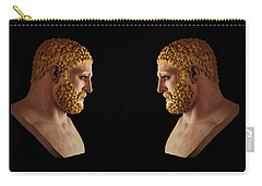 Carry-all Pouch featuring the mixed media Hercules - Blondes by Shawn Dall