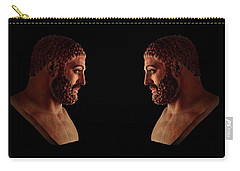 Carry-all Pouch featuring the mixed media Hercules - Brunettes by Shawn Dall