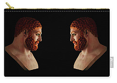 Carry-all Pouch featuring the mixed media Hercules - Gingers by Shawn Dall