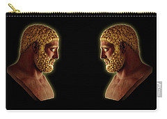 Carry-all Pouch featuring the mixed media Hercules - Golden Gods by Shawn Dall