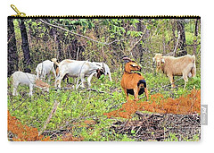 Carry-all Pouch featuring the photograph Herd Of Goats In Osage County by Janette Boyd