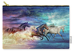 Herd Of Horses In Pastel Carry-all Pouch
