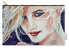 Carry-all Pouch featuring the painting Here And Now by Michal Madison