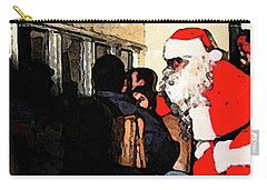 Carry-all Pouch featuring the photograph Here Come Santa by Kim Henderson