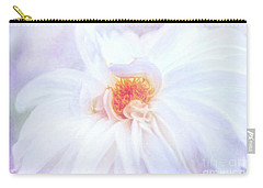 Here Comes The Bride - A Beautiful White Dahlia Carry-all Pouch
