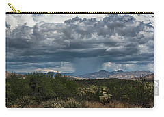 Carry-all Pouch featuring the photograph Here Comes The Rain Again by Saija Lehtonen
