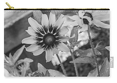 Here I Am In Black And White Carry-all Pouch by Arlene Carmel