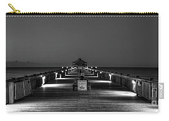 Carry-all Pouch featuring the photograph Here It Comes Folly Beach Pier Sunrise Art by Reid Callaway