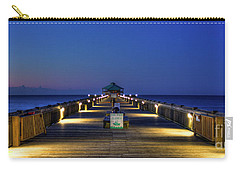 Carry-all Pouch featuring the photograph Here It Comes Now Folly Beach Pier Sunrise Art by Reid Callaway