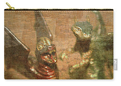 ....here There Be Dragons Carry-all Pouch by Martina Fagan