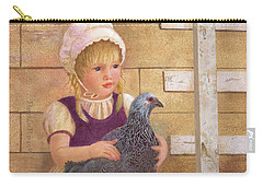Carry-all Pouch featuring the painting Heritage Hen Brahma Chicken by Nancy Lee Moran