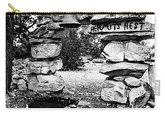 Hermit's Rest, Black And White Carry-all Pouch