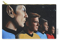Carry-all Pouch featuring the painting Heroes Of The Final Frontier by Kim Lockman