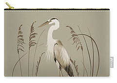 Heron And Lotus Flowers Carry-all Pouch