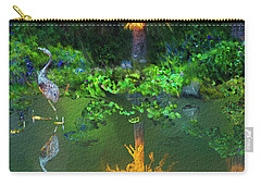 Carry-all Pouch featuring the digital art Heron Art by Dale Stillman