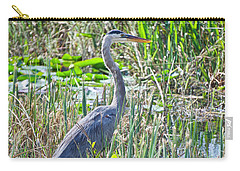 Heron By The Riverside Carry-all Pouch by Judy Kay