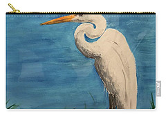 Carry-all Pouch featuring the painting Heron by Donald Paczynski