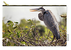 Heron In Nest Carry-all Pouch by Jim Gillen