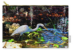Heron In Quiet Pool Carry-all Pouch