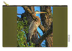 Heron In The Pine Tree Carry-all Pouch