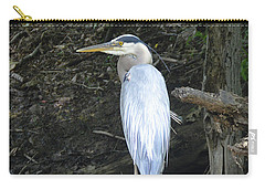 Carry-all Pouch featuring the photograph Heron In The Woods by Kathy Kelly