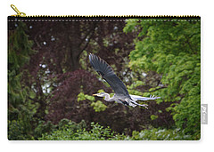 Heron In The Woods Carry-all Pouch