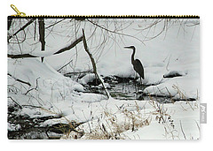 Heron In Winter Carry-all Pouch