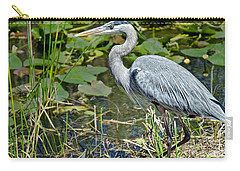 Heron On The River Bank Carry-all Pouch