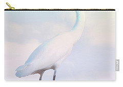 Heron Or Egret Stance Carry-all Pouch by Joseph Hollingsworth
