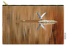 Carry-all Pouch featuring the photograph Heron Tapestry by Evelyn Tambour