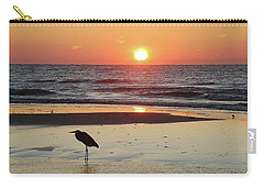 Heron Watching Sunrise Carry-all Pouch