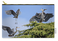 Herons Mating Dance Carry-all Pouch by Keith Boone