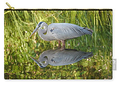 Heron's Reflection Carry-all Pouch
