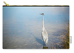 Heron's Watch Carry-all Pouch by Gwen Vann-Horn