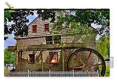 Carry-all Pouch featuring the photograph Herr's Grist Mill by Lisa Wooten