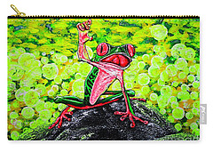 Carry-all Pouch featuring the painting Hey  People by Viktor Lazarev