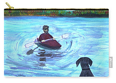 Carry-all Pouch featuring the painting Hey Where You Going  by Donna Walsh