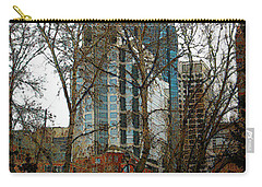 Carry-all Pouch featuring the digital art Hi-rise Living  by Stuart Turnbull