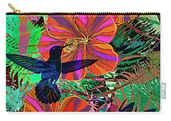 Hibiscus And Hummers Carry-all Pouch