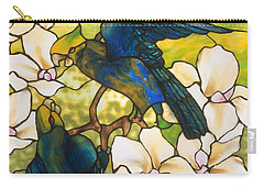 Hibiscus And Parrots Carry-all Pouch by Louis Comfort Tiffany